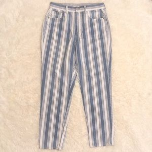 AEO striped 'Mom Jean' size 8